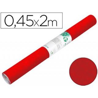 Rolo adesivo liderpapel especial camurça vermelho rolo de 0.45 x 2 mt