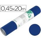 Rolo adesivo liderpapel unicor azul brilho rolo de 0.45 x 20 mt