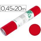 Rolo adesivo liderpapel unicor vermelho brilho rolo de 0.45 x 20 mt