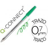 Esferografica q-connect cristal ponta media verde