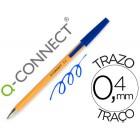 Esferografica laranja q-connect azul fino