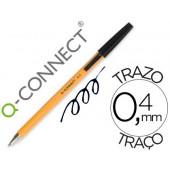 Esferografica laranja q-connect preta fino