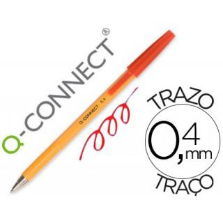 Esferografica laranja q-connect vermelha fino