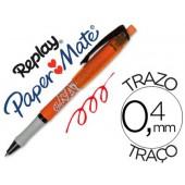Esferografica replay max vermelho com borracha
