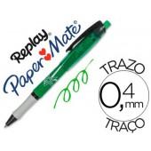 Esferografica replay max verde com borracha