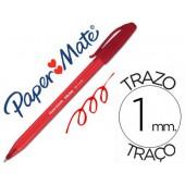 Esferografica paper mate inkjoy 100 ponta media trazo 1mm vermelho