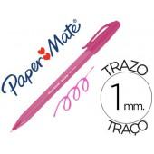 Esferografica paper mate inkjoy 100 ponta media traco 1 mm rosa