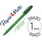 Esferografica paper mate inkjoy 100 ponta media traco 1 mm verde