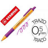 Esferografica stabilo pointball 0.5 mm retractil lilas
