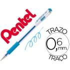 Roller pentel k116 gel grip azul claro