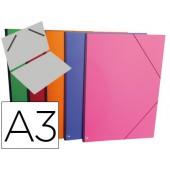 Carpeta planos clairefontaine din a3 con gomas carton gofrado colores surtidos