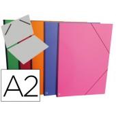 Carpeta planos clairefontaine din a2 con gomas carton gofrado colores surtidos