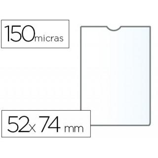 Bolsa catalogo q-connect din a8 150 microns pvc transparente 52 x 74 mm