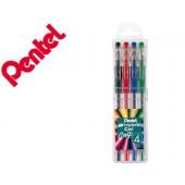Roller pentel k116 gel grip pack c/4