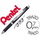 Roller pentel blp77 energel tinta a prova de documento ponta 0.7 mm cor preto