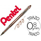 Esferografica roller metalica pentel bg 208 bronze 0.4 mm ideal para papel e madeira suave secagem rapida