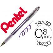 Esferografica roller metalica pentel bg 208 violeta 0.4 mm ideal para papel e madeira suave secagem rapida