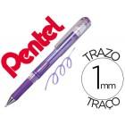Roller pentel hybrid gel k230m ponta de 1.0 mm cor violeta metalico