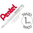 Roller pentel hybrid gel k230w ponta de 1.0 mm cor branco