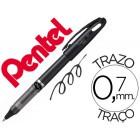 Roller pentel energel tradio corpo na cor preto ponta 0.7 mm e tinta preta