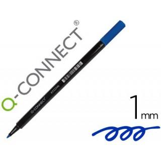 Marcador q-connect ponta de fibra azul - ponta redonda 0.5 mm