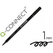 Marcador q-connect ponta de fibra preto - ponta redonda 0.5 mm