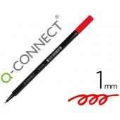 Marcador q-connect ponta de fibra vermelho - ponta redonda 0.5 mm