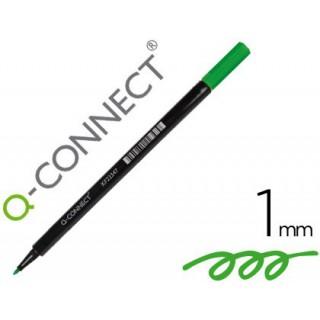 Marcador q-connect ponta de fibra verde - ponta redonda 0.5 mm