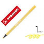 Marcador stabilo aguarelavel pen 68 amarelo 1 mm