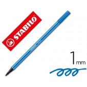 Marcador stabilo aguarelavel pen 68 azul marinho ultramar 1 mm
