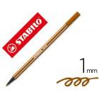 Marcador stabilo aguarelavel pen 68 castanho 1 mm