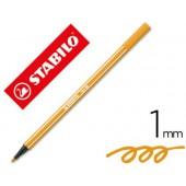 Marcador stabilo aguarelavel pen 68 laranja 1 mm