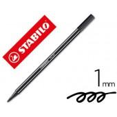Marcador stabilo aguarelavel pen 68 preto 1 mm