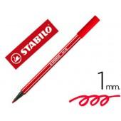 Marcador stabilo aguarelavel pen 68 vermelho carmin 1 mm