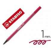 Marcador stabilo aguarelavel pen 68 vermelho escuro 1 mm