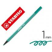 Marcador stabilo aguarelavel pen 68 verde esmeralda 1 mm