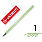 Marcador stabilo aguarelavel pen 68 verde gelo 1 mm
