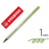Marcador stabilo aguarelavel pen 68 verde folha 1 mm