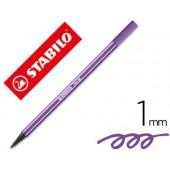 Marcador stabilo aguarelavel pen 68 violeta 1 mm