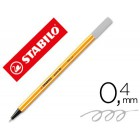 Marcador stabilo ponta de fibra point 88 cinza 0.4 mm