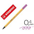 Marcador stabilo ponta de fibra point 88 lila claro 0.4 mm