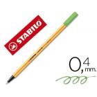 Marcador stabilo ponta de fibra point 88 verde 0.4 mm