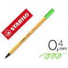 Marcador stabilo ponta de fibra point 88 verde neon
