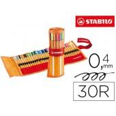 Marcador stabilo ponta de fibra point 88 estojo de 30 unidades sortidas