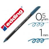 Marcador edding ponta fibra 1200 azul aco n.17 -ponta redeonda 0.5 mm