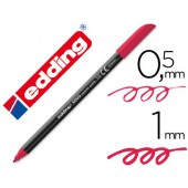 Marcador edding ponta fibra 1200 carmin n. 19 -ponta redeonda 0.5 mm
