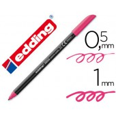 Marcador edding ponta fibra 1200 magenta n.20 -ponta redeonda 0.5 mm