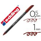 Marcador edding ponta fibra 1200 castanho escuro n18-0.5mm