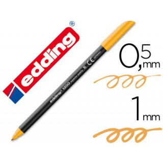 Marcador edding ponta fibra 1200 laranja claro n.16 -ponta redeonda 0.5
