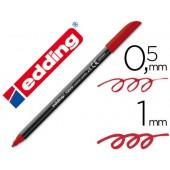 Marcador edding ponta fibra 1200 vermelho ingles n.28 -ponta redeonda 0